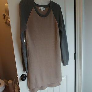 Sweater dress sequin elbows